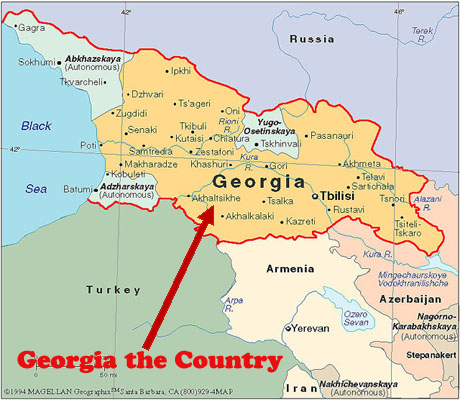Georgia The State In The US Or The Country In Europe - Georgia map europe